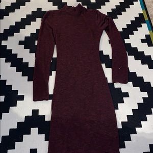 Open-Back Fitted Sweater Dress